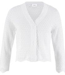 bolero in maglia traforata con maniche a 3/4 (bianco) - bpc bonprix collection