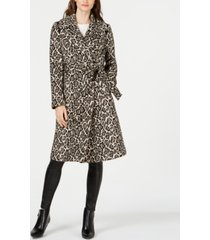 via spiga animal-print belted coat