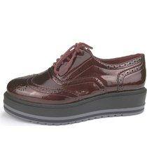 zapato oxford trufa marron chalada