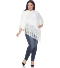 white mark plus size sansa poncho