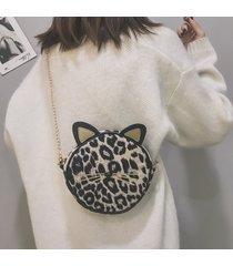spalla da donna con stampa leopardata peluche borsa spalla borsa