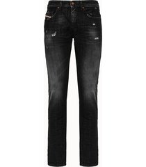 diesel jeans thommer-x in denim used nero