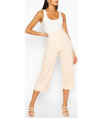 tall tailored woven culottes, peach