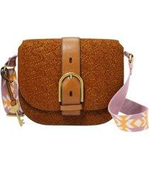 fossil wiley saddle vintage-like leather shoulder bag