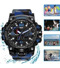 cronómetro reloj smael militar táctico natación 50atm