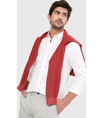 camisa blanco-azul-rojo tommy jeans