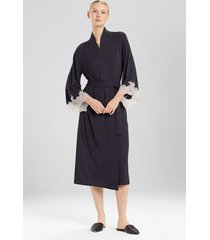 natori luxe shangri-la sleep/lounge/bath wrap/robe, women's, grey, size s natori