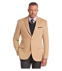 executive collection traditional fit camelhair blazer clearance, by jos. a. bank