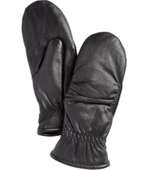 charter club leather mittens, created for macy's