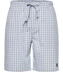 gradient check pajama shorts shorts casual blå gant
