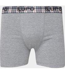 cueca lupo boxer algodão com elastano - masculino
