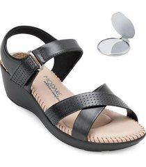 sandália modare ultra conforto e espelho md20-7023 - feminino