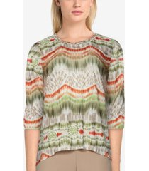 alfred dunner women's missy san antonio casual colorful striped top