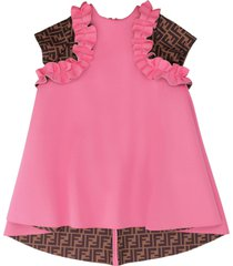 fendi ruffled dress
