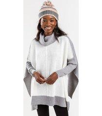 kiara knit poncho - gray