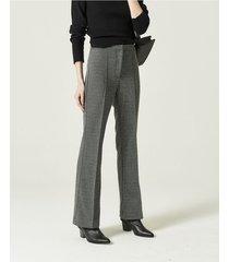 pantalón gris portsaid tramado bootcut