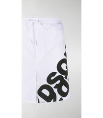 dsquared2 logo-print long-length swim shorts