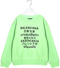 balenciaga languages sweatshirt