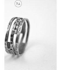 cage pierścionek ze srebra, oksydowany