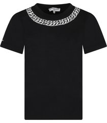 givenchy black t-shirt for kids with chain