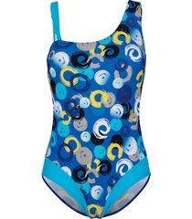 baddräkt maritim turkos::kungsblå