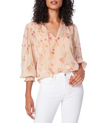 paige women's indira floral blouse - after glow multi - size xs