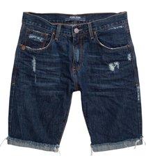 bermuda john john classica minot 3d jeans azul masculina (jeans medio, 50)