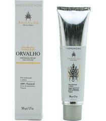 hidratante facial orvalho com toque acetinado vegano aloe vera, pracaxi e jojoba ahoaloe 50g