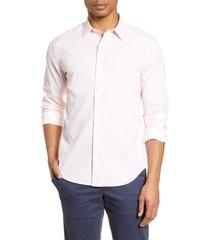 men's bonobos slim fit button-up performance shirt, size medium r - pink