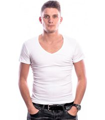 beeren men t-shirt v-hals diep wit (3 pack)
