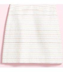 loft petite shimmer stripe shift skirt