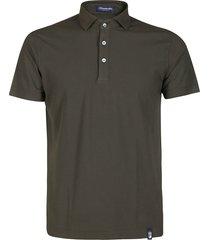 moss green cotton polo shirt