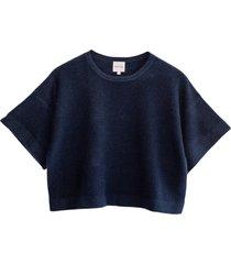 lily short cashmere blouse