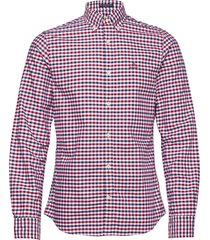 the oxford 2 col gingham slim bd overhemd casual rood gant