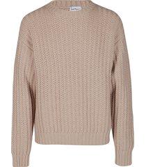 salvatore ferragamo beige virgin wool sweatshirt
