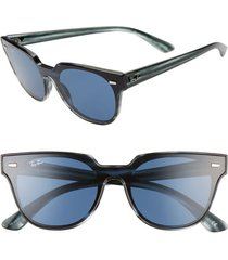 men's ray-ban wayfarer 51mm sunglasses - striped blue havana