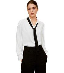 blusa blanco-negro mng