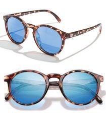 sunski dipsea 48mm polarized sunglasses - tortoise aqua