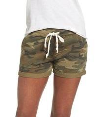 women's alternative camo lounge shorts, size x-large - green