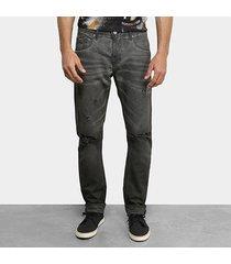 calça jeans skinny forum destroyed masculina