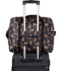 maleta equipaje de mano plegable estampado leopardos citybags multicolor