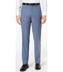 alfani red men's slim-fit performance stretch light blue suit pants, created for macy's