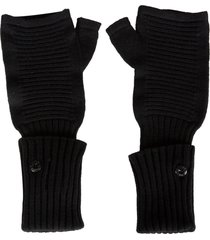 stone island shadow project rib knit fingerless gloves