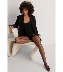 na-kd lingerie tights - black