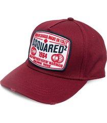 dsquared2 logo-patch distressed baseball cap