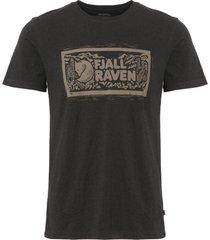 fjällräven dark grey logo stamp t-shirt f81949