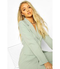 cut away button mix & match tailored blazer, sage