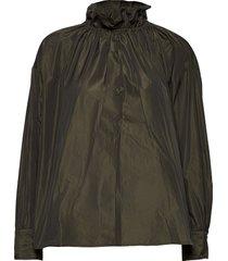 ines, 924 taffeta blouse lange mouwen groen stine goya