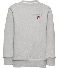 d1. medium shield sweat c-neck sweat-shirt trui grijs gant