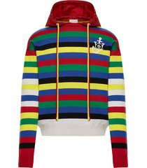 x jw anderson striped hoodie